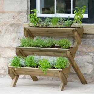 Kundani Stepped Herb Wooden Vertical Garden