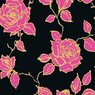 Vintage Rose 33 X 205 Prepasted Roll Wallpaper