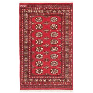 One-of-a-Kind Onondaga Hand-Knotted Oriental Red Area Rug