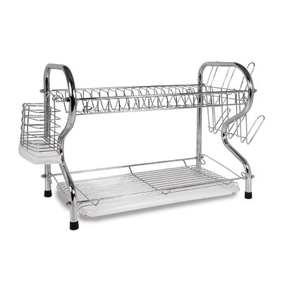 """16"""" 2 Level Dish Rack With Rubberized Feet Better Chef"""