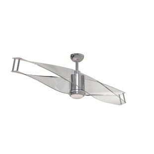 Modern contemporary ceiling fans allmodern 56 penbrook 2 blade ceiling fan with remote aloadofball Image collections