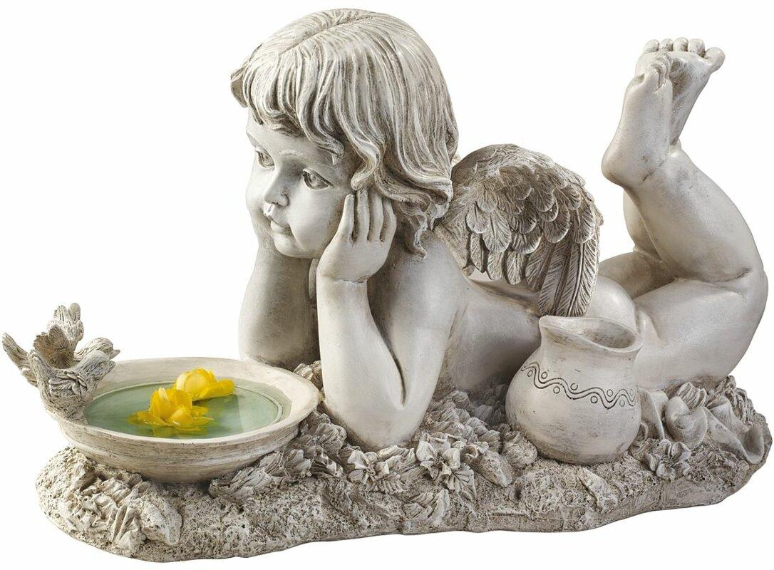 Design Toscano Summertime Reflections Cherub Statue