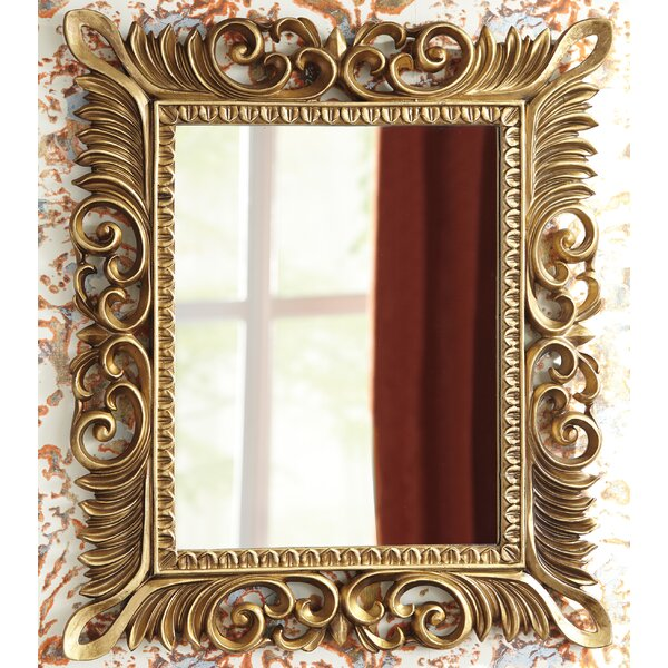 Lovely Antique Gold Wall Mirror | Wayfair TD91