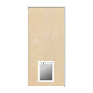 Interior pet door wayfair primed hardboard mdf flush prehung interior door with pet door planetlyrics Choice Image