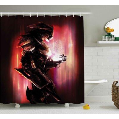 Bautista Bird Robot War Machine Soldier Science Technology Futuristic Art Print Shower Curtain