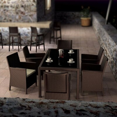 Brayden Studio Racheal 7 Piece Dining Set