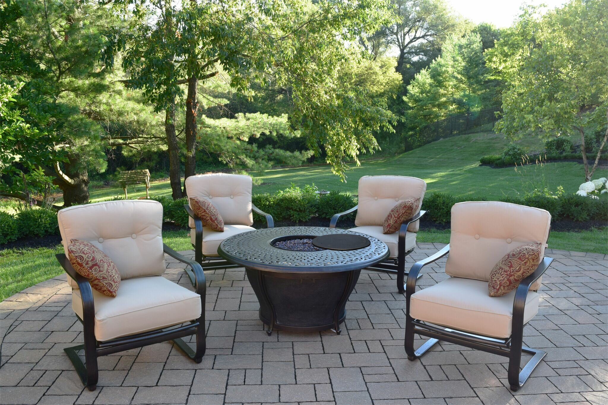 Darby Home Co Owego 7 Piece Conversation Set with Cushions | Wayfair