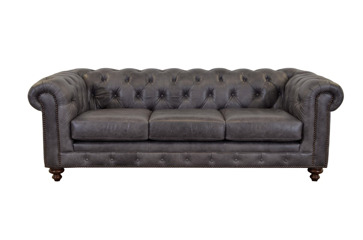 Design Chesterfield Couch westland and birch newbury leather chesterfield sofa reviews sofa