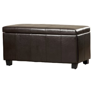 Thompsonville Leather Storage Ottoman by Andover Mills