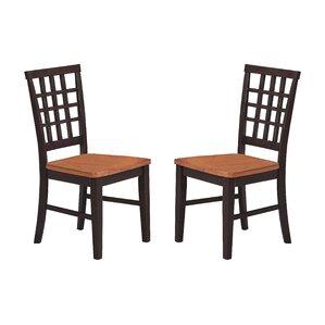 Arlington Lattice Back Solid Wood Dining Chair Set Of 2