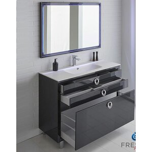 blue bathroom vanity cabinet. Platinum 48  Due Single Bathroom Vanity Set Navy Blue Wayfair