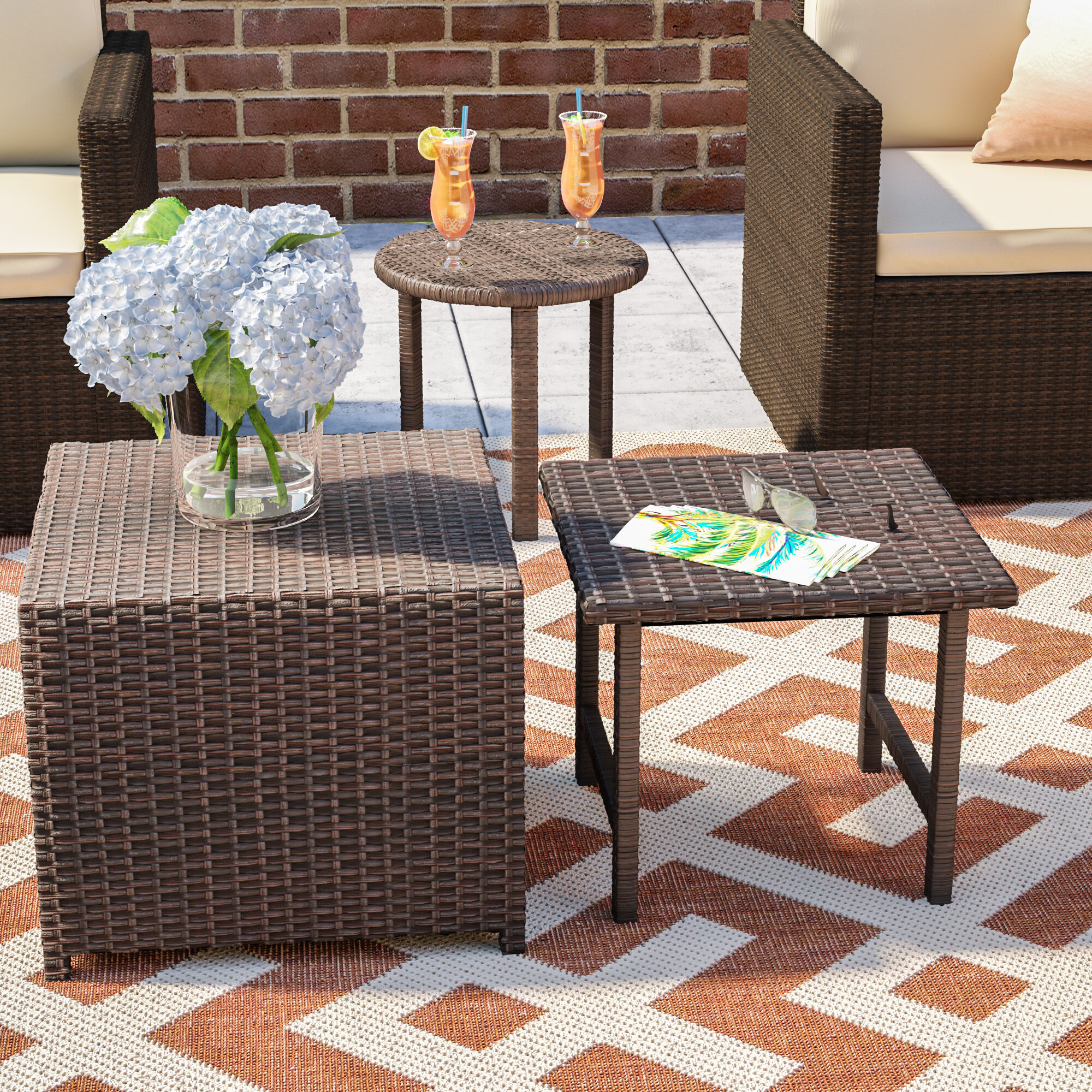 Mercury Row Agamemnon Wicker/Rattan Side Table U0026 Reviews | Wayfair