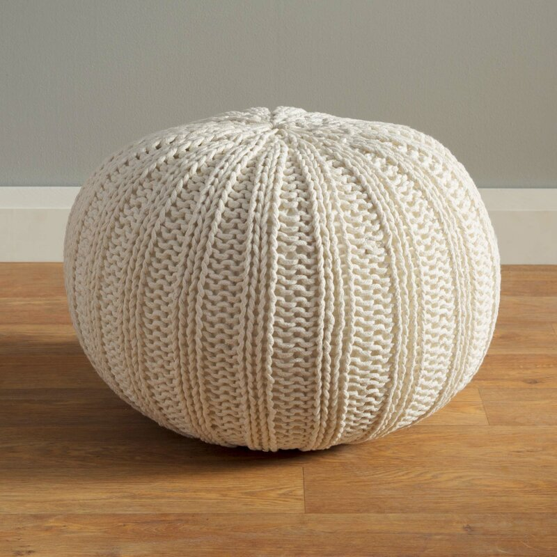 Gilmour Hand Knitted Traditional Pouf Ottoman