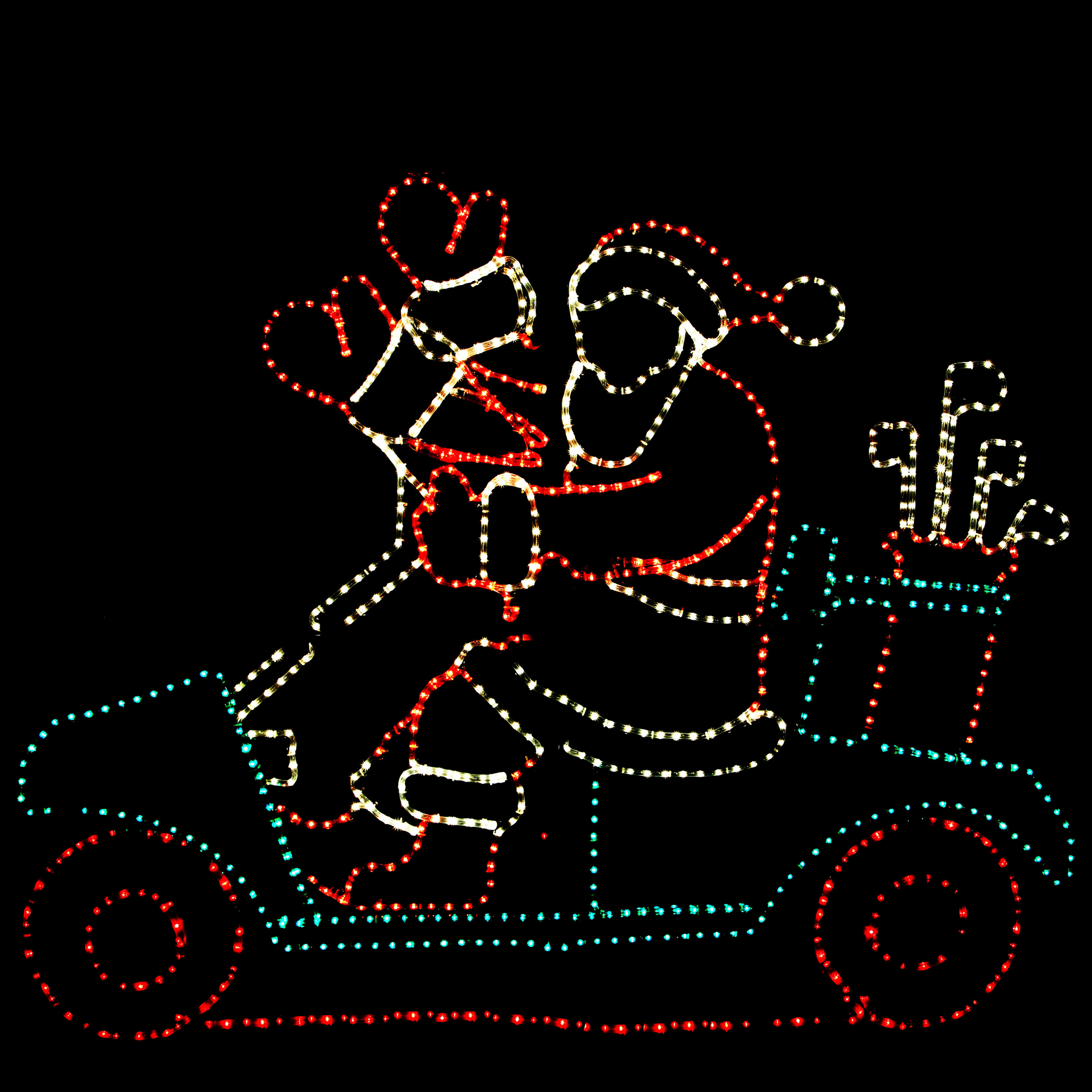 The holiday aisle animated golf cart santa rope light wayfair aloadofball Choice Image