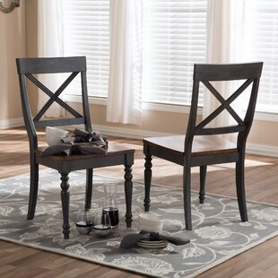 Baxton Studio Pia Solid Wood Dining Chair (Set of 2)