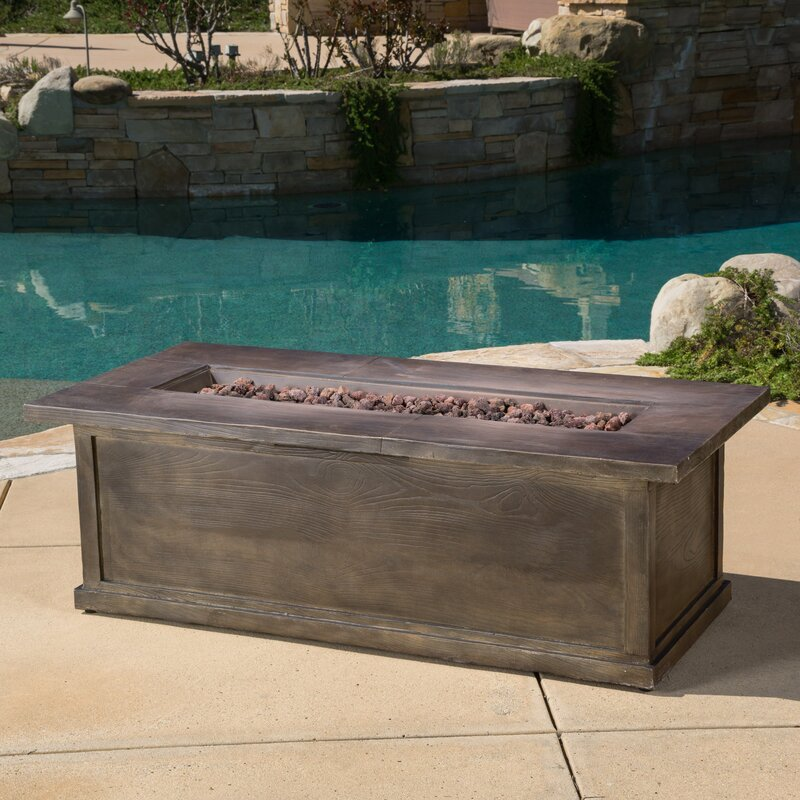 Lovely Capistrano Wood Propane Fire Pit Table