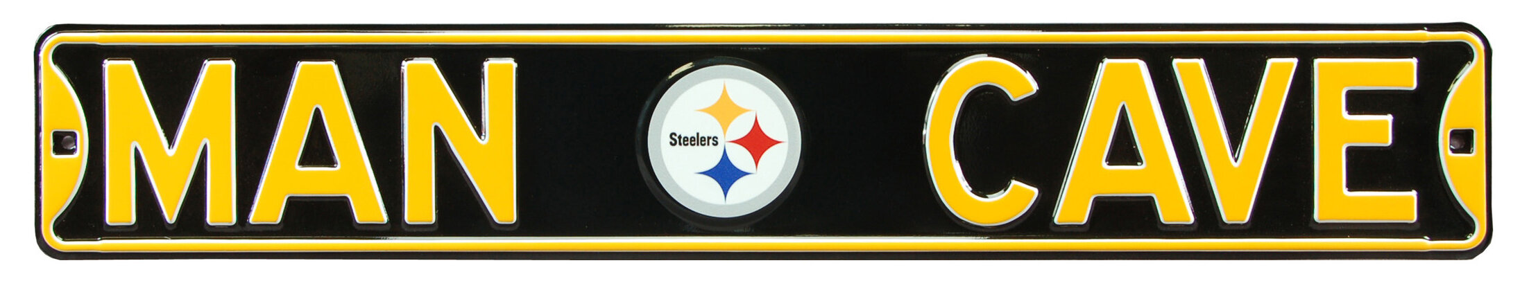 AuthenticStreetSigns Pittsburgh Steelers Steel Man Cave Sign Wall ...