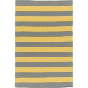 Cybulski Handmade Gray/Yellow Area Rug