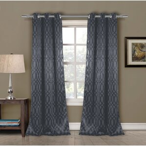 Blackout Grommet Curtain Panel In Blue (Set Of 2)