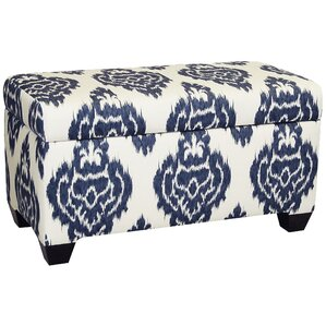 Diamon Upholstered Cotton Storage Ottoman by Skyline Furniture