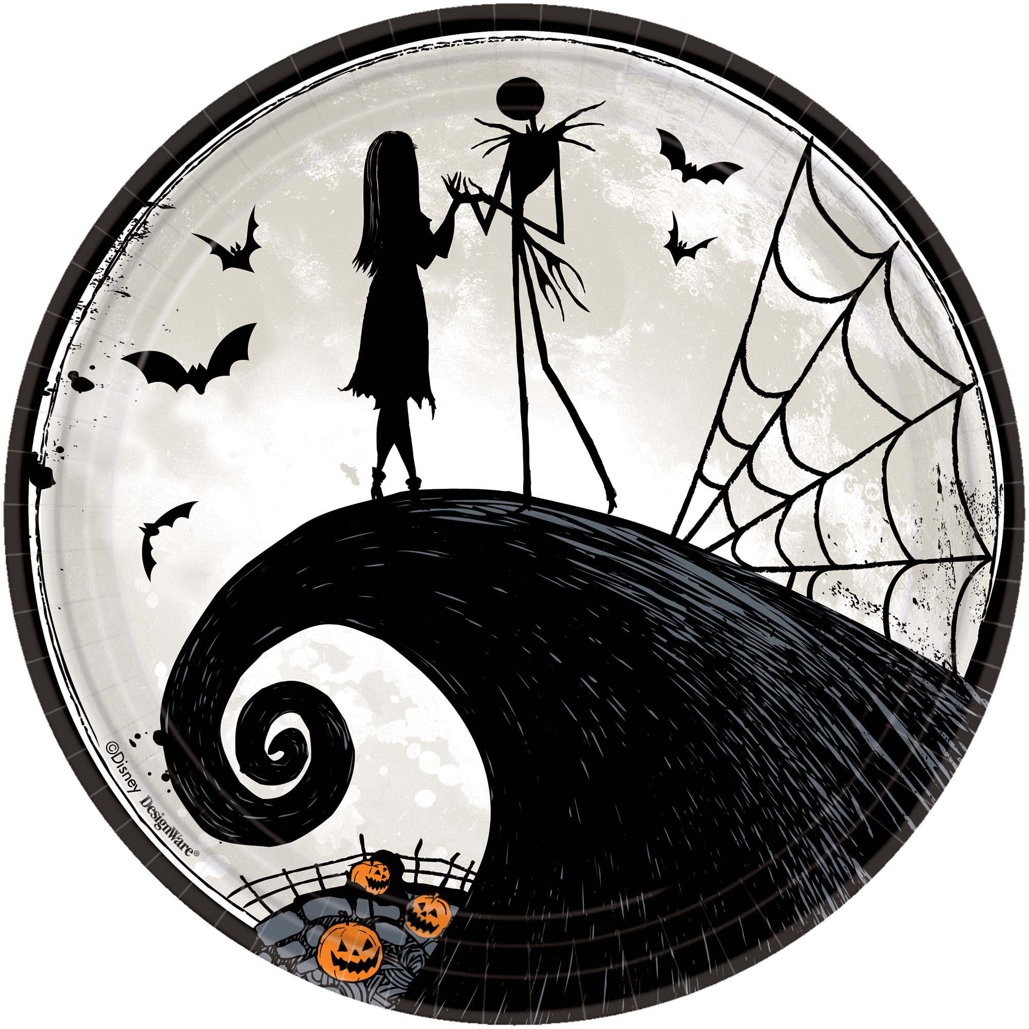 amscan halloween disney tim burtons nightmare before christmas paper appetizer plate wayfair
