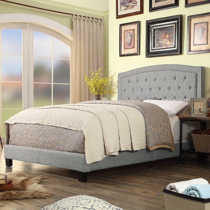 Charlton Home Rockaway Upholstered Panel Bed Reviews Wayfair