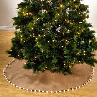 Patton Pompom Design Jute Stocking Tree Skirt