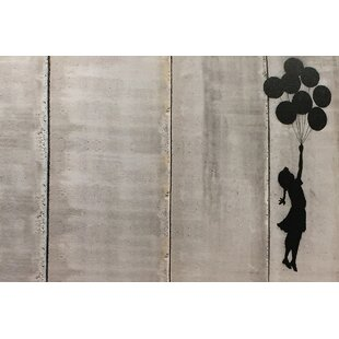 Floating Balloon Girl By Banksy Graphic Art On Wrapped Canvas