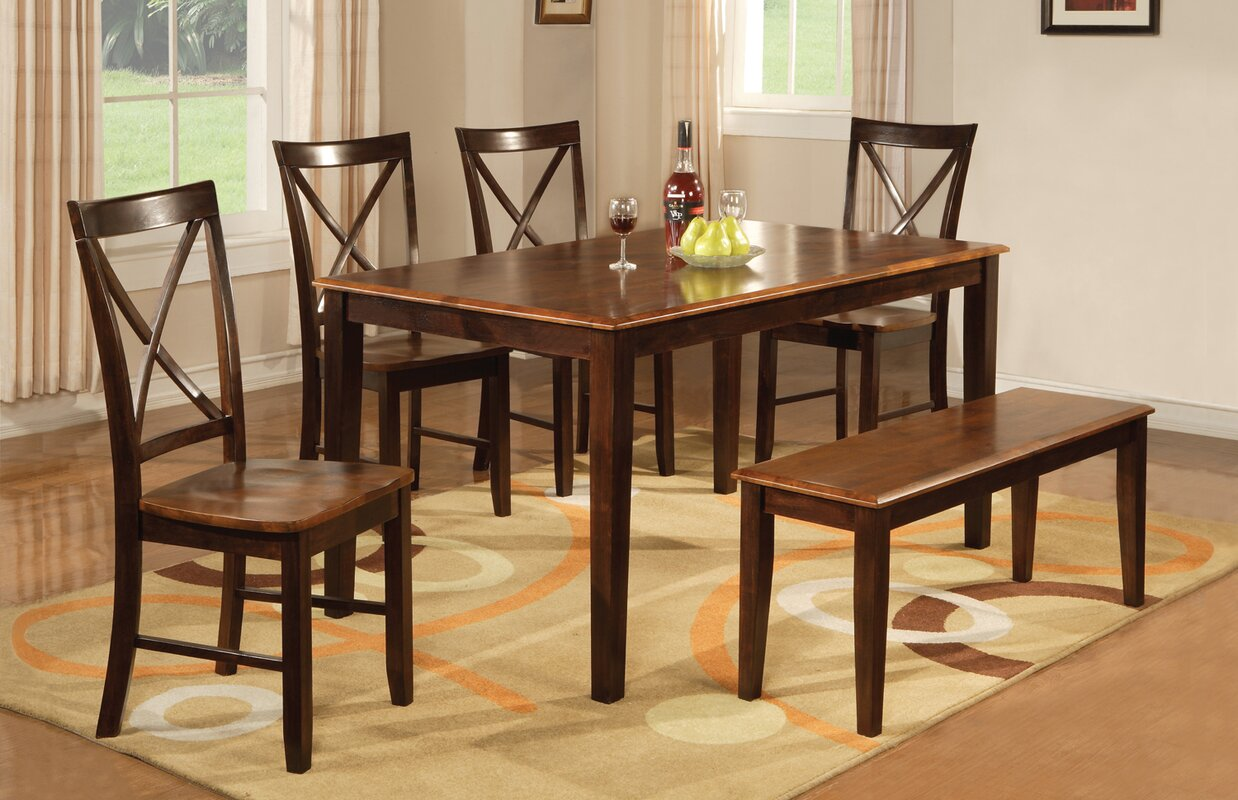 loon peak alcove 6 piece dining set u0026 reviews wayfair