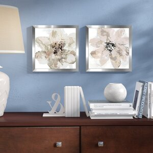 'Corolla III - Neutral' 2 Piece Framed Print Set on Paper