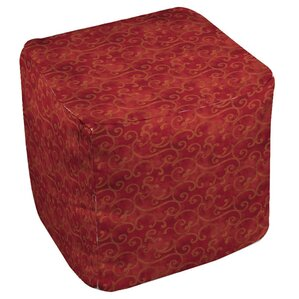 Zinnia Damask Ottoman by Manual Woodworkers ..