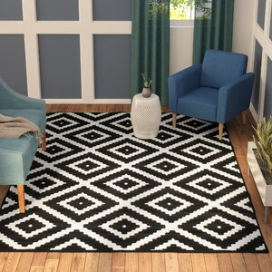 Cheney Black/White Indoor Area Rug