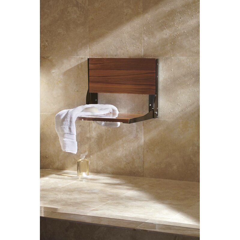 HomeCare by Moen Bath Safety Fold Down Teak Seat & Reviews | Wayfair