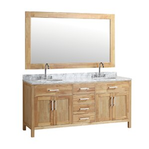 double bathroom vanity. Dennis 72  Double Bathroom Vanity Mirror Set Vanities Joss Main