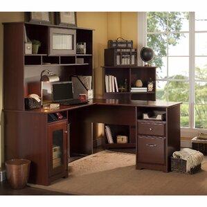Hilale 3 Piece L Shaped Desk Set With Hutch Bookcase