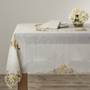 Embroidered Blossom Tablecloth