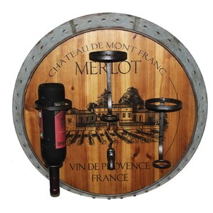 Eden Merlot 3 Bottle Wall Mounted Wine Rack by August Grove