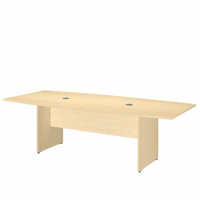 Bush Business Furniture Boat Shaped Conference Table Finish: Natural Maple