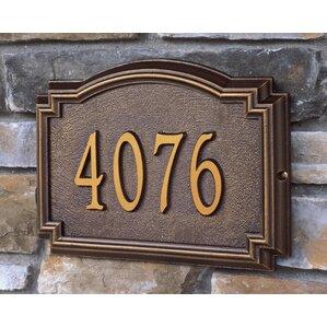 whitehall 1line wall address plaque