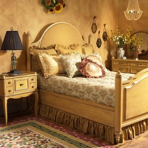 Upholstered Panel Bed by French Heritage