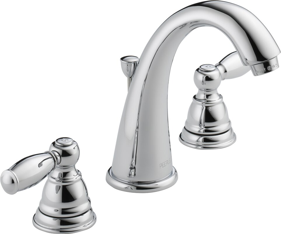 Widespread Bathroom Faucet With Double Handles