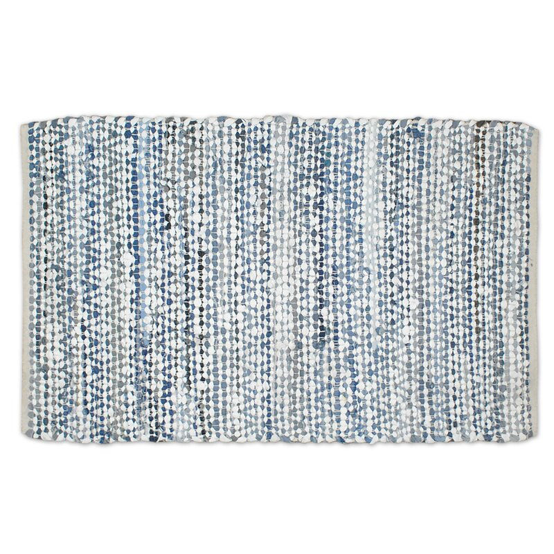 e1a4e6b524 Bloomsbury Market One-of-a-Kind Leboeuf Rag Hand-Knotted 2' x 3' Cotton  Denim Area Rug | Wayfair
