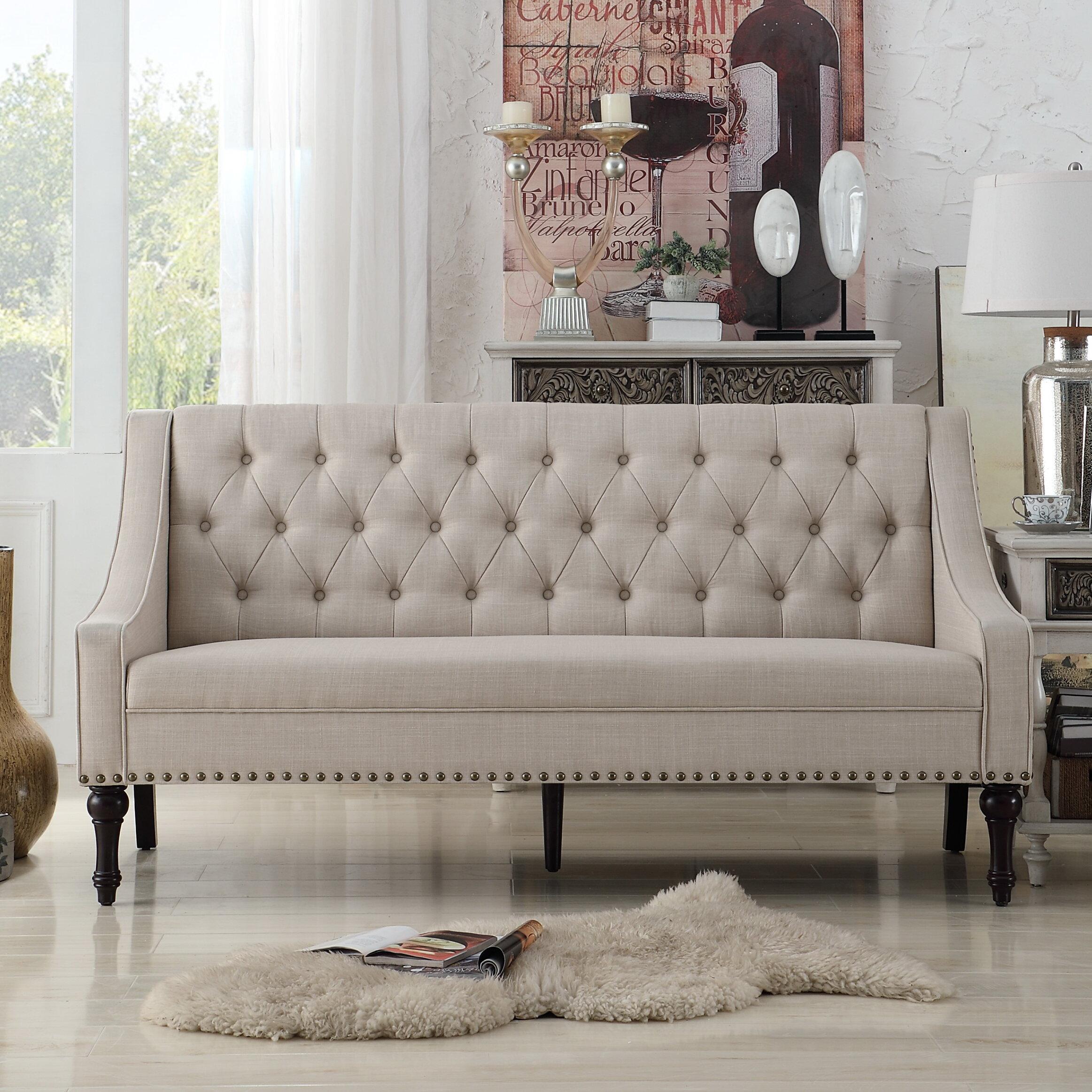 Alcott hill christiansburg tufted sofa reviews wayfair ca