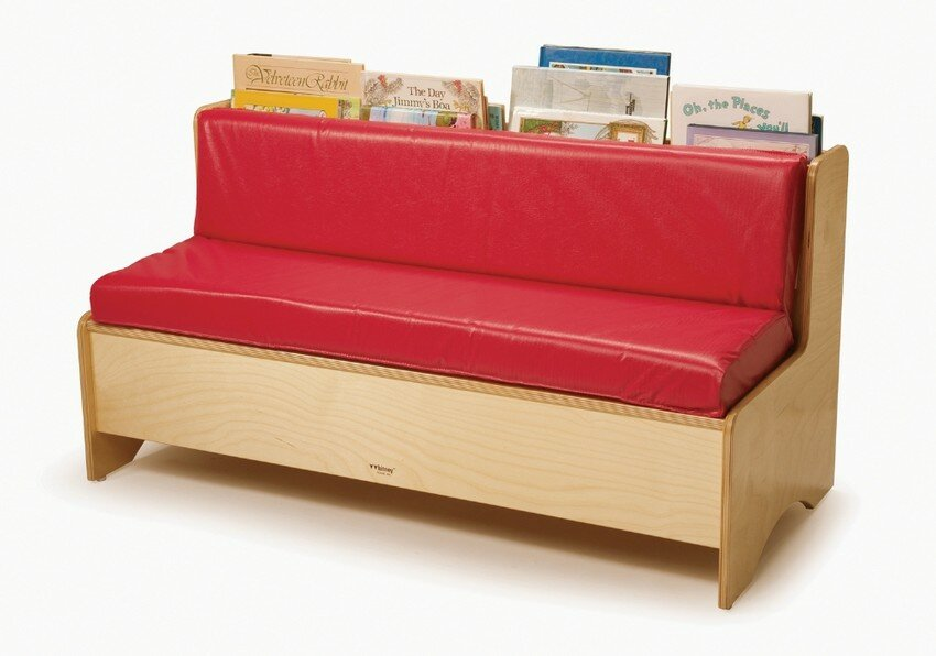 Beautiful Comfy Reading Center Kids Sofa With Storage Compartment