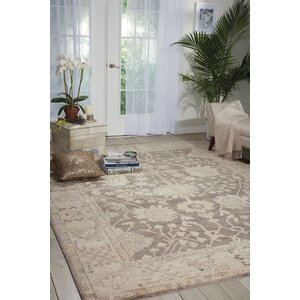 Bachar Hand-Knotted Aubergine Area Rug