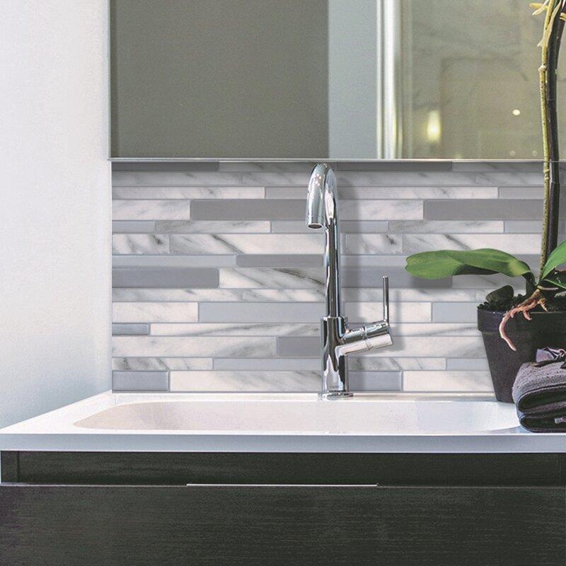Smart Tiles 24 5 cm x 29 3 cm Selbstklebende Fliesen