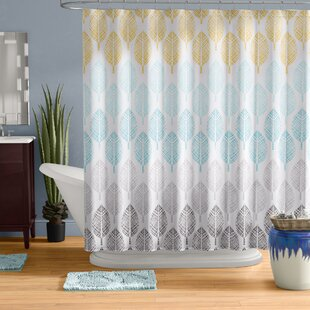 Gray And Aqua Shower Curtain