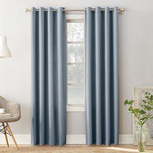 Ginnifer Solid Room Darkening Grommet Single Curtain Panel