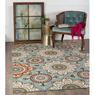Dolan Blue Brown Area Rug