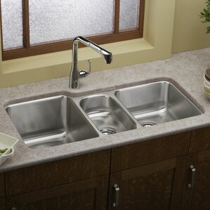 ... Triple Kitchen Sinks Youu0027ll | Wayfair On 3 Bowl Kitchen Sink, Used 3 ...